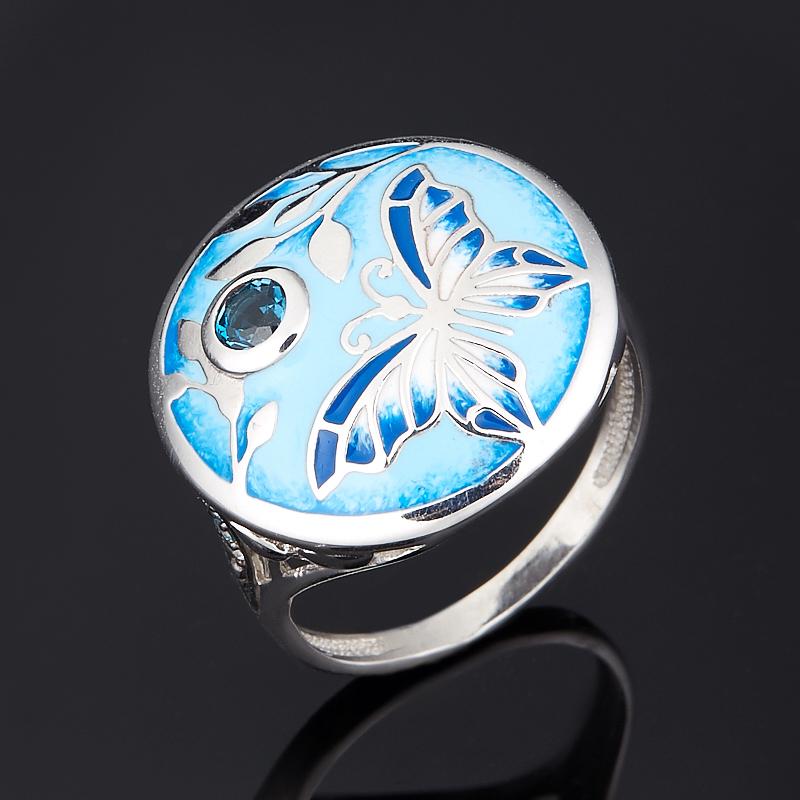 Кольцо топаз лондон, sky, swiss огранка (серебро 925 пр.) размер 17,5 кольцо коюз топаз кольцо т901012072