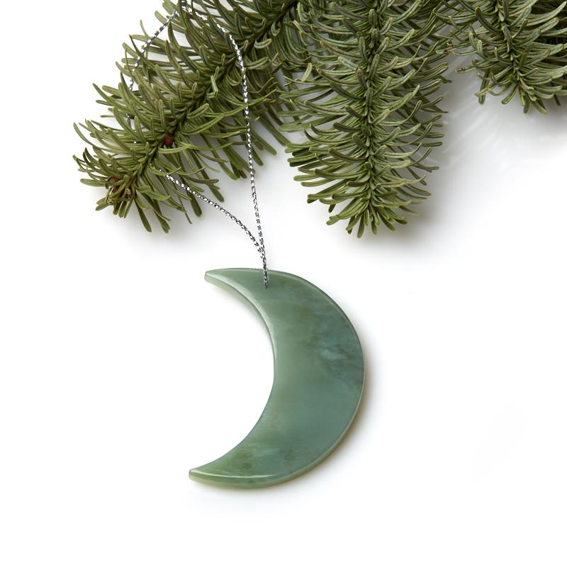 Елочная игрушка нефрит зеленый 5 см игрушка