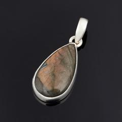 Кулон лабрадор Мадагаскар капля (серебро 925 пр.)