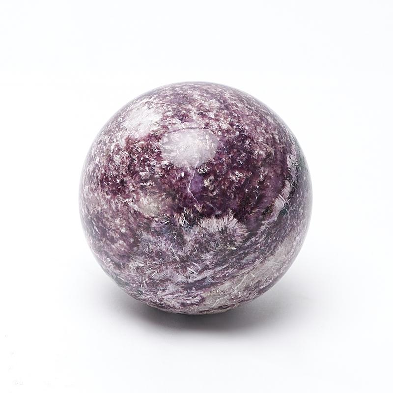 Шар чароит 6 см шар матовый серебряный с черными полосками 6 см 6 шт