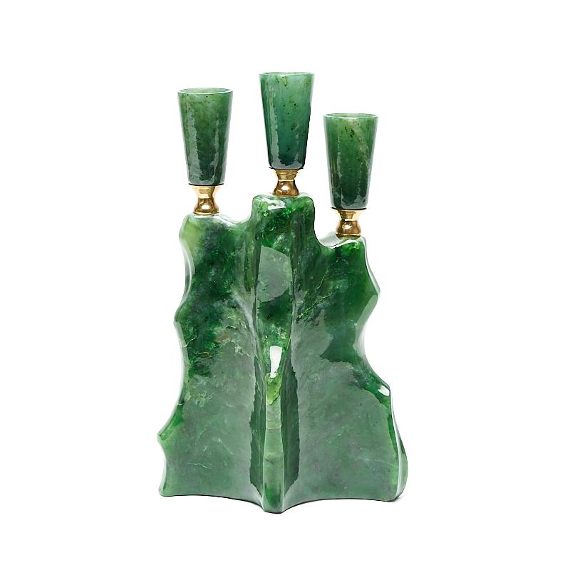 Подсвечник нефрит зеленый 12,5х21 см подсвечник sagaform цвет зеленый высота 25 см