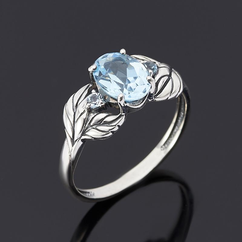 Кольцо топаз голубой огранка (серебро 925 пр.) размер 17 кольцо коюз топаз кольцо т242015482