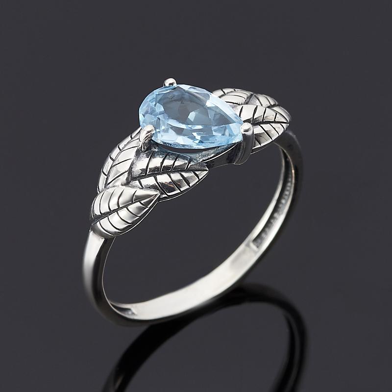 Кольцо топаз голубой огранка (серебро 925 пр.) размер 17,5 кольцо коюз топаз кольцо т141018126 лл