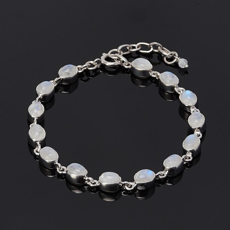 Браслет лунный камень 18-21 см (серебро 925 пр.)