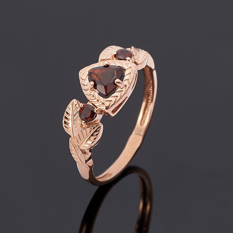 Кольцо гранат альмандин огранка (серебро 925 пр., позолота) размер 17 кольцо гранат серебро 925 пр размер 17