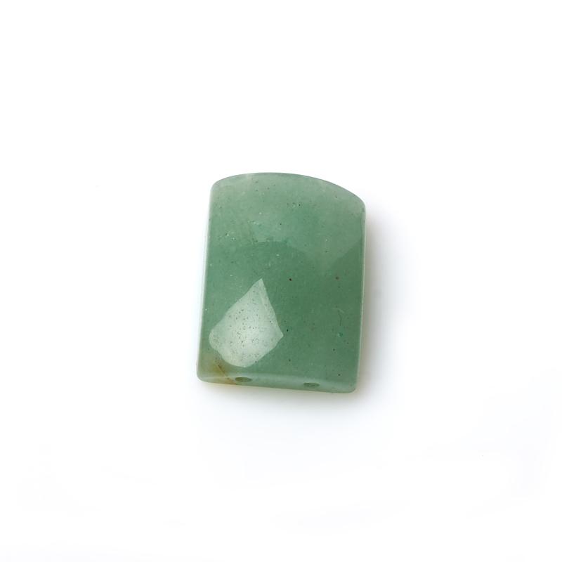 Бусина авантюрин зеленый прямоугольник 15*22 мм (1 шт)