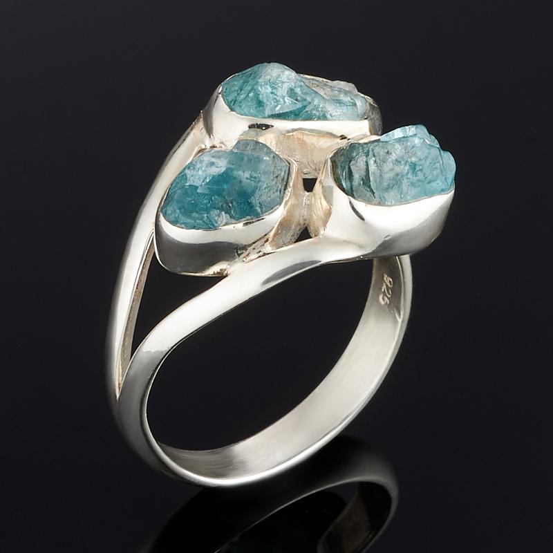 Кольцо апатит голубой Бразилия (серебро 925 пр.) размер 19