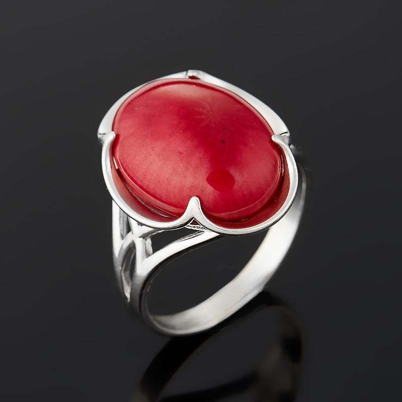 Кольцо коралл красный (серебро 925 пр.) размер 17,5 кольца колечки кольцо аскон им коралл