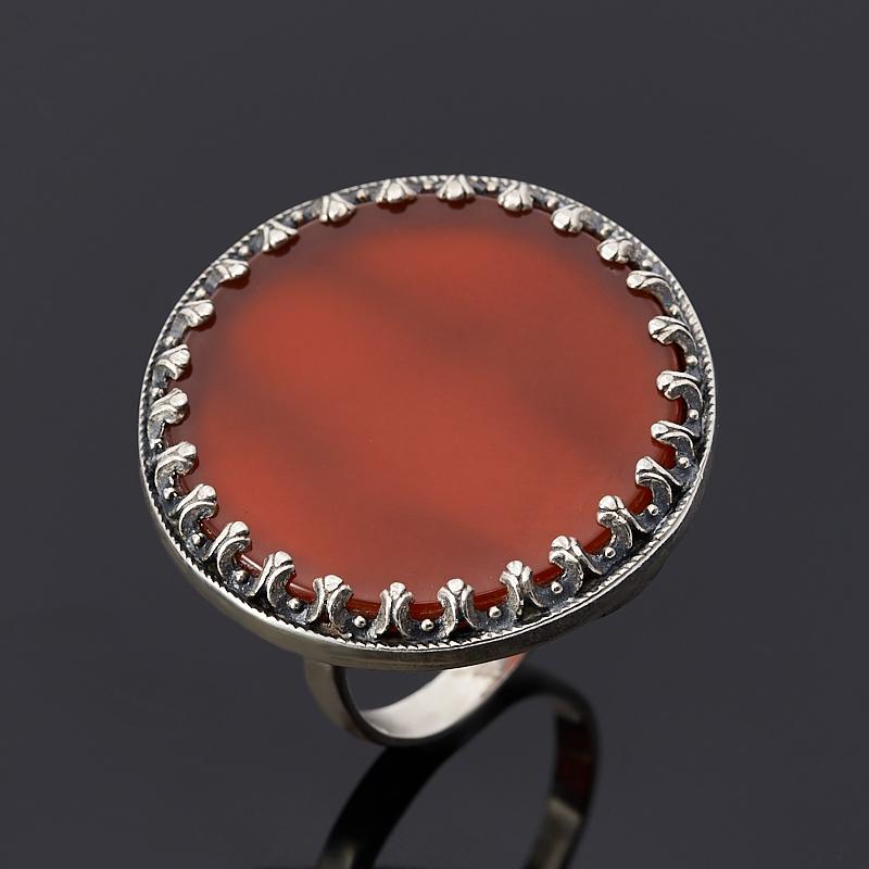 Кольцо сердолик (серебро 925 пр.) размер 18,5