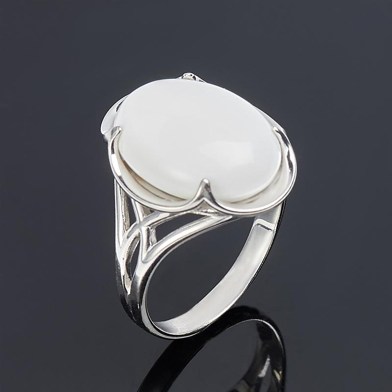 Кольцо кахолонг (серебро 925 пр.) размер 17,5 браслет кахолонг имитация малахита джессика