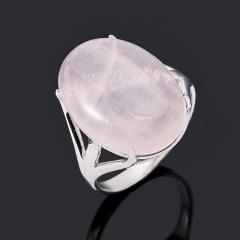 Кольцо розовый кварц Бразилия (серебро 925 пр.) размер 17