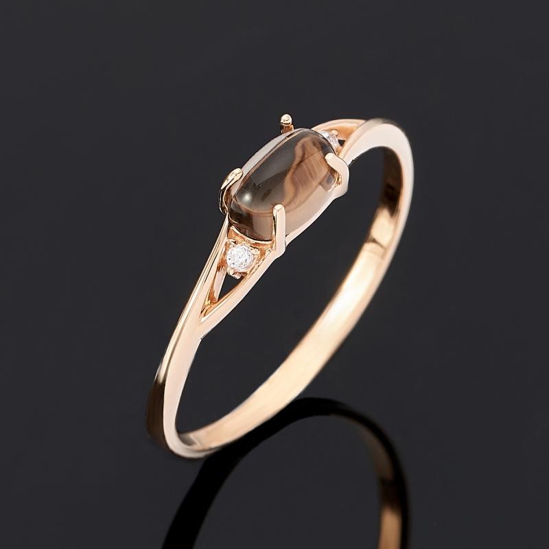 Кольцо раухтопаз (золото 585 пр.) размер 17,5