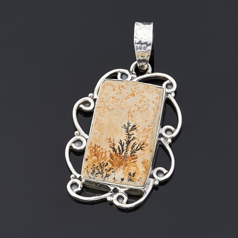 Кулон яшма дендритовая (серебро 925 пр.) цена
