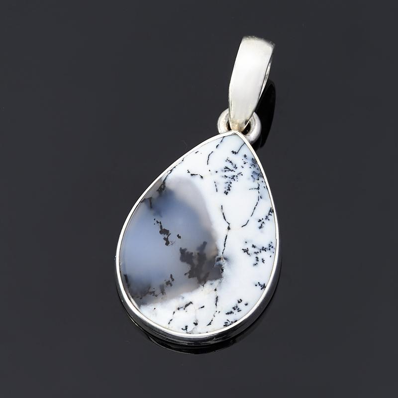 Кулон агат пейзажный капля (серебро 925 пр.) кулон капля агат серый 5 см