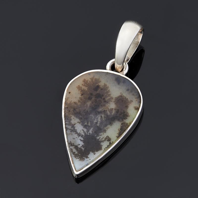 Кулон агат пейзажный (серебро 925 пр.) кулон агат моховой овал серебро 925 пр