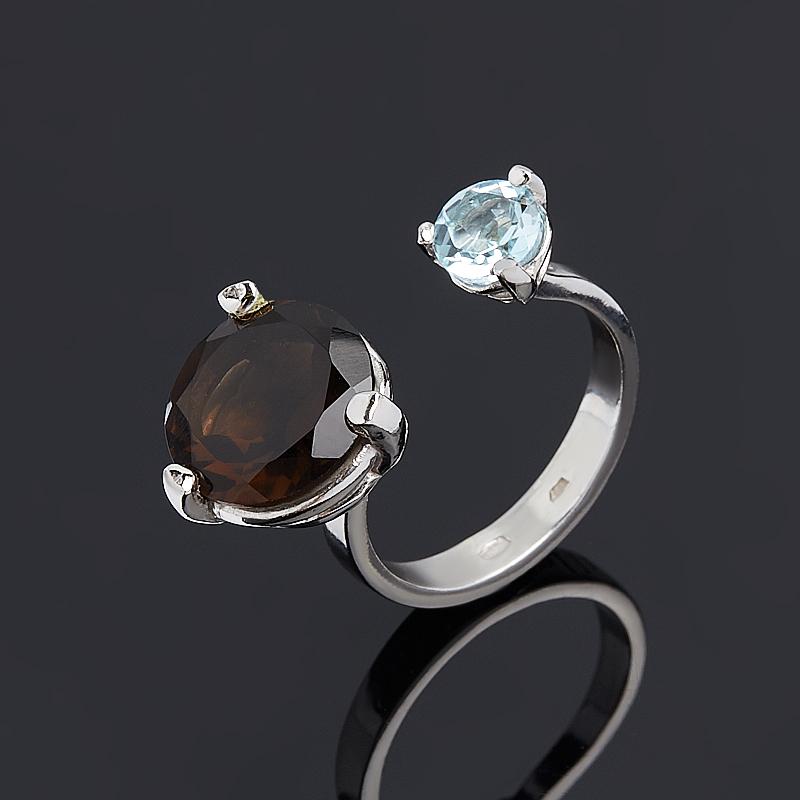 Кольцо микс раухтопаз топаз огранка (серебро 925 пр.) размер 17 кольцо микс топаз хризолит огранка серебро 925 пр размер 19