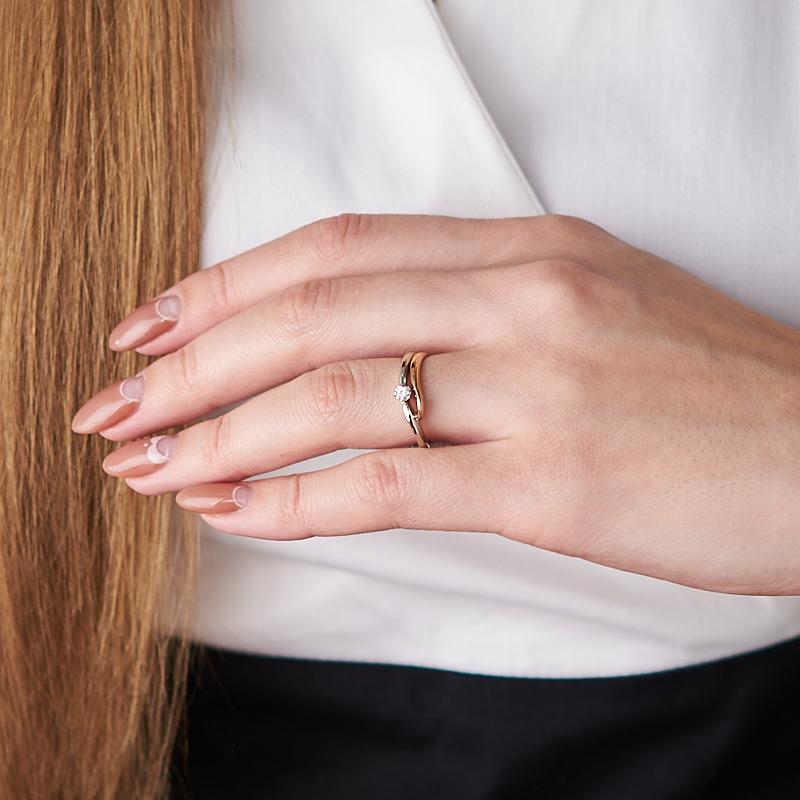 Кольцо бриллиант Индия огранка (золото 585 пр.) размер 21