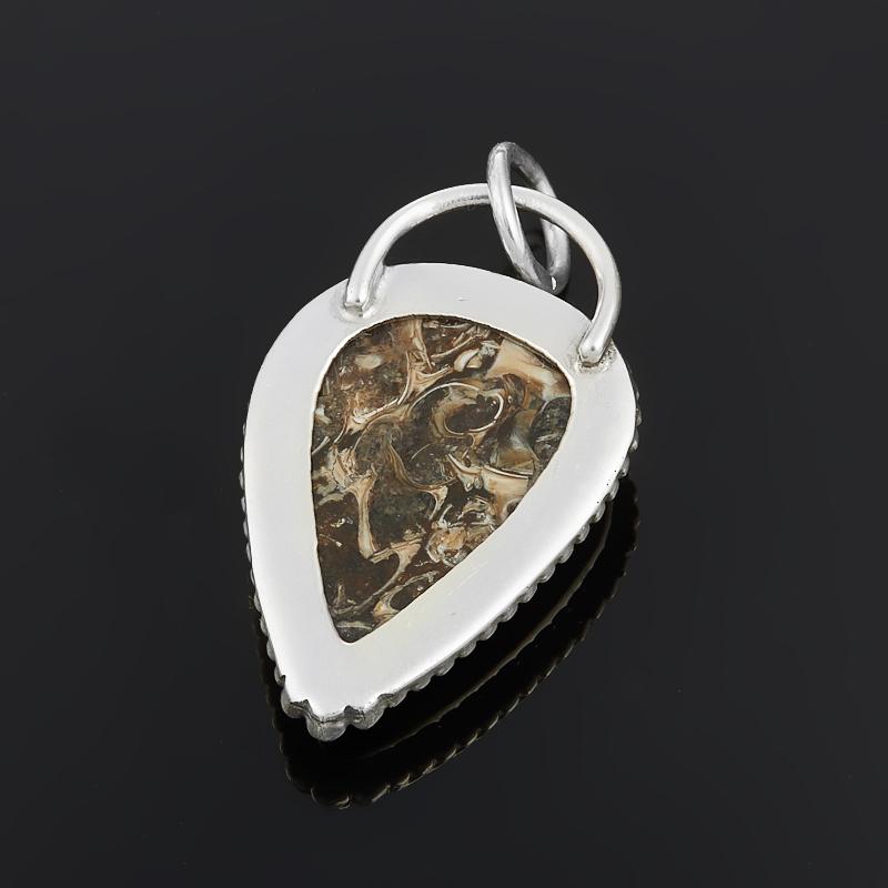 Кулон агат черепаховый США (серебро 925 пр.)