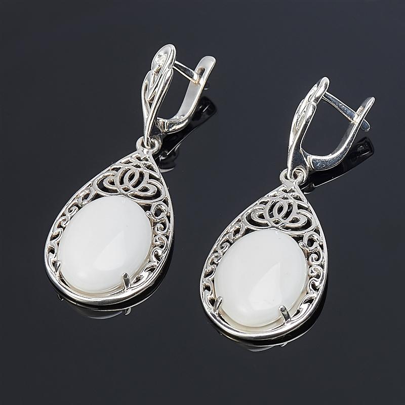 Серьги кахолонг (серебро 925 пр.) браслет миранда кахолонг