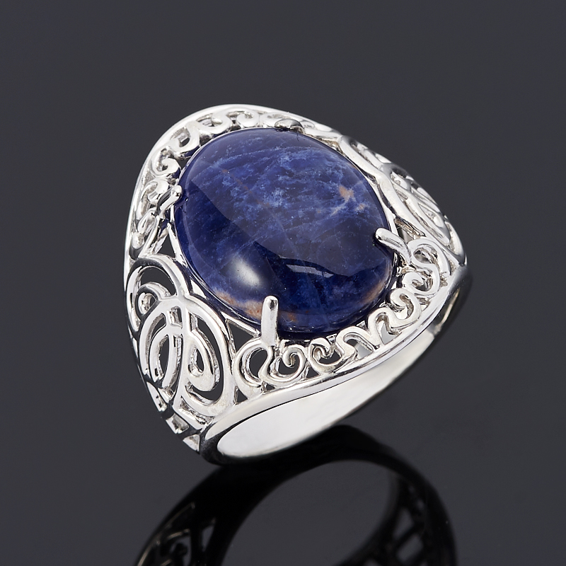 Кольцо содалит Бразилия (серебро 925 пр.) размер 17