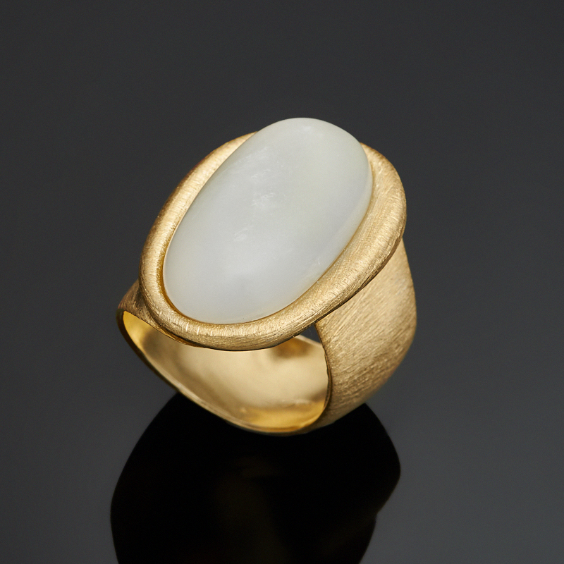 Кольцо лунный камень (серебро 925 пр., позолота) размер регулируемый 5 way pilot solenoid valve sy3220 4d 01