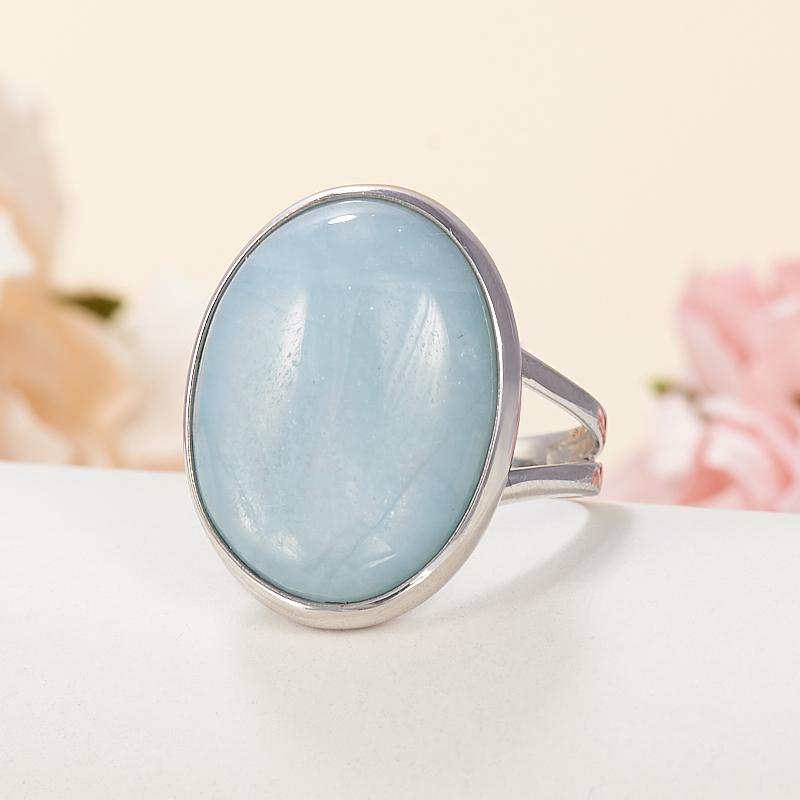Фото - Кольцо аквамарин (серебро 925 пр.) размер 19 кольцо аквамарин серебро 925 пр позолота размер 18