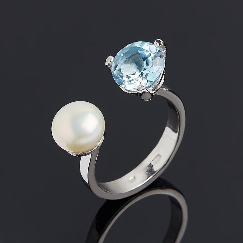 Кольцо микс жемчуг топаз (серебро 925 пр.) размер 17 кольцо коюз топаз кольцо т147017296