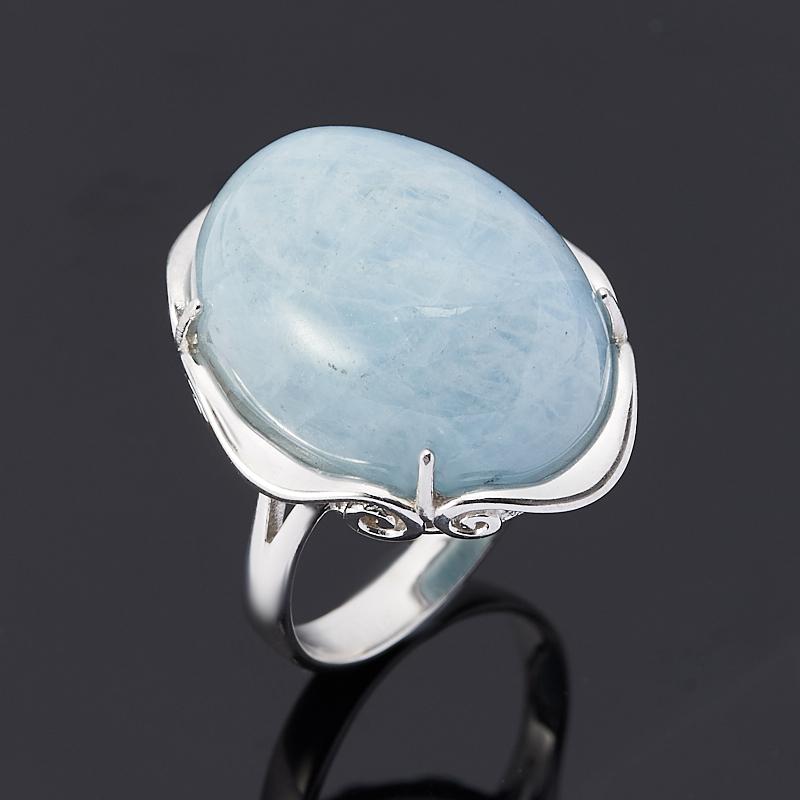 Фото - Кольцо аквамарин (серебро 925 пр.) размер 17 кольцо аквамарин серебро 925 пр позолота размер 18