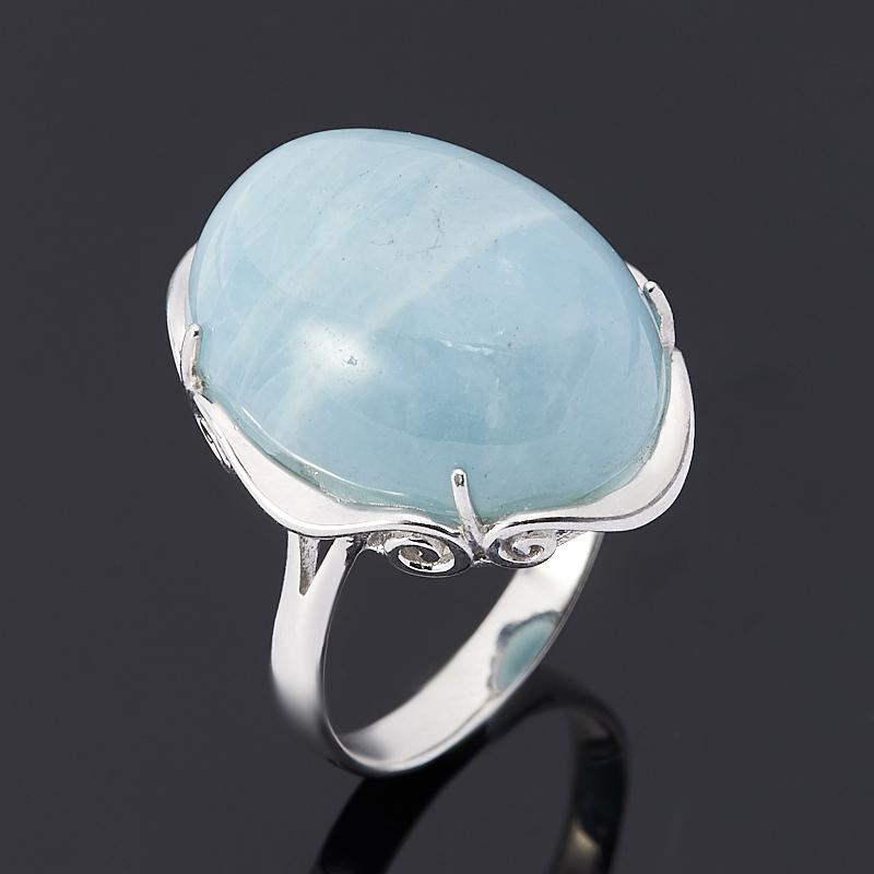 Кольцо аквамарин (серебро 925 пр.) размер 18 кольцо женское jenavi виконт решимость цвет серебро черный h4663060 размер 18