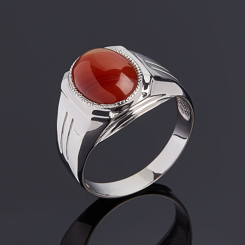 Кольцо сердолик (серебро 925 пр.) размер 20,5