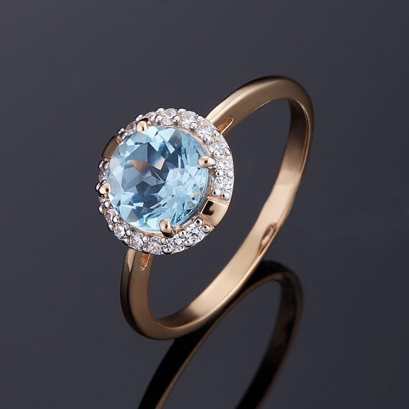 Кольцо топаз голубой огранка (золото 585 пр.) размер 16,5 кольцо коюз топаз кольцо т747017362 01