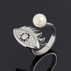 Кольцо микс жемчуг, топаз (серебро 925 пр.) размер 16,5