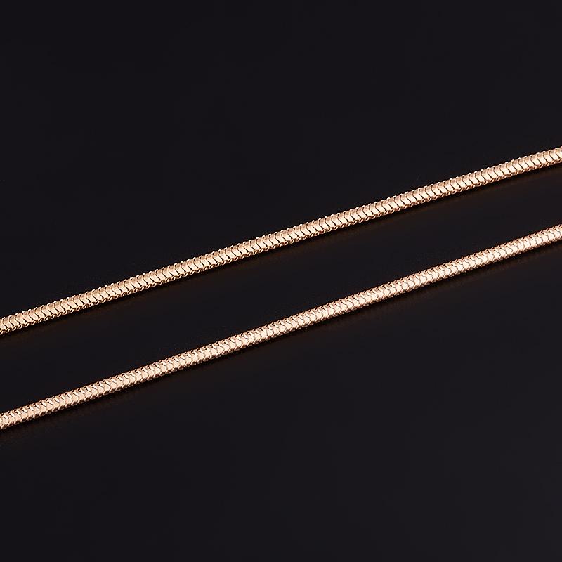 Цепь полновесная снейк 55 см (серебро 925 пр., позолота) толстовка детская bodo цвет янтарный 20 57u размер 86 92