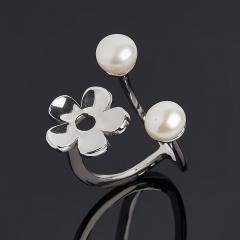 Кольцо жемчуг белый (серебро 925 пр.) размер 15,5