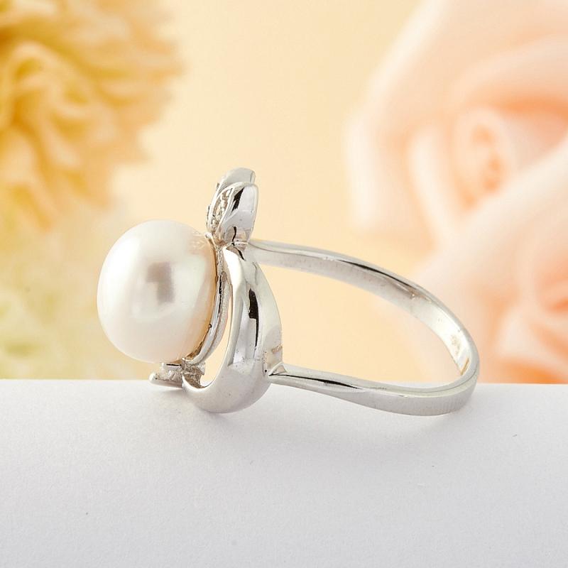 [del] Кольцо жемчуг Малайзия (серебро) размер 18