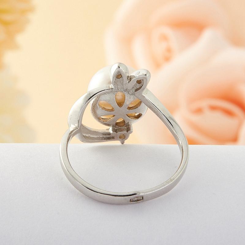 [del] Кольцо жемчуг Малайзия (серебро) размер 19