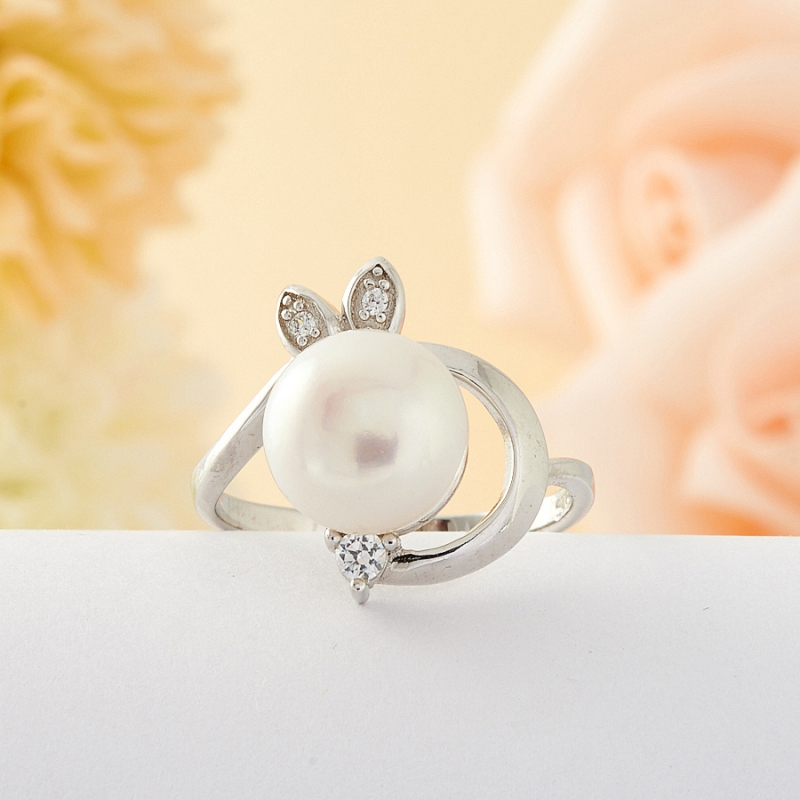 [del] Кольцо жемчуг Малайзия (серебро) размер 20