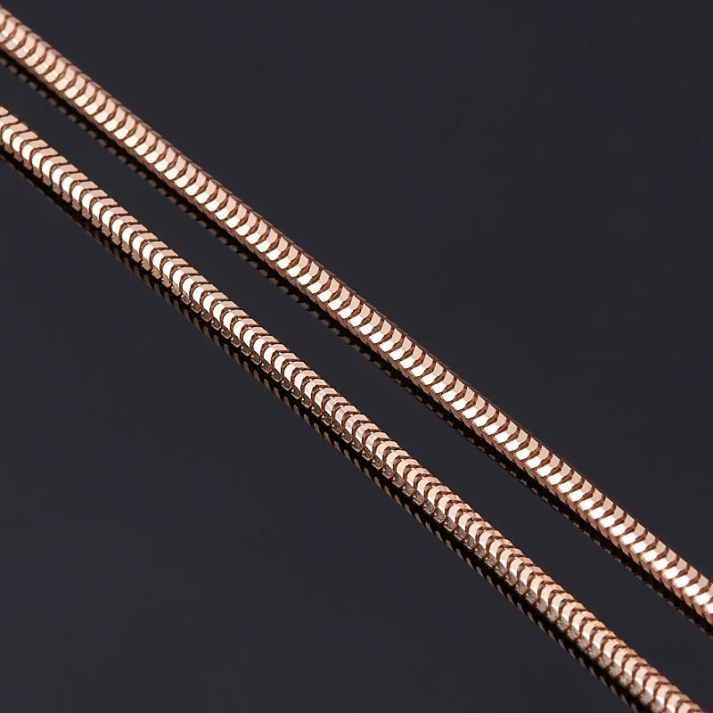 Цепь полновесная снейк 40 см (серебро 925 пр., позолота)