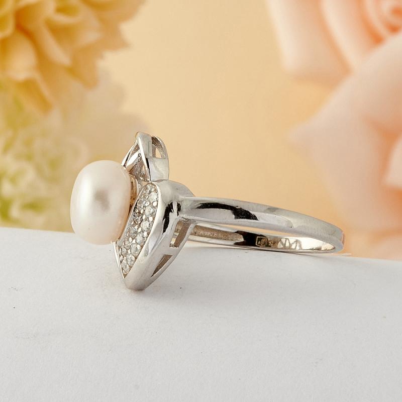 [del] Кольцо жемчуг Малайзия (серебро) размер 18,5