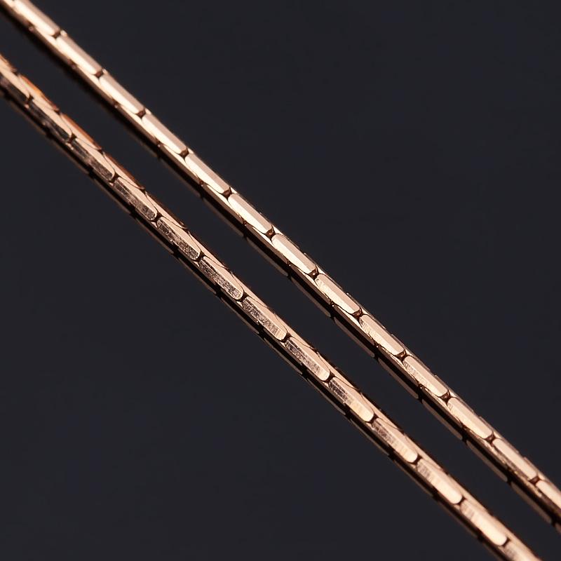 Цепь полновесная 40 см (серебро 925 пр., позолота)
