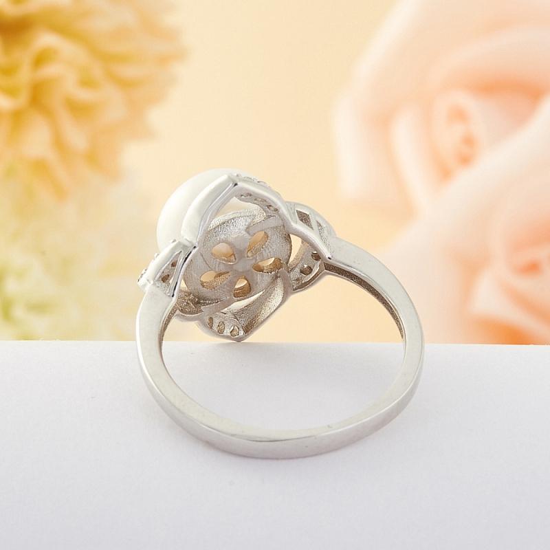 [del] Кольцо жемчуг Малайзия (серебро) размер 22