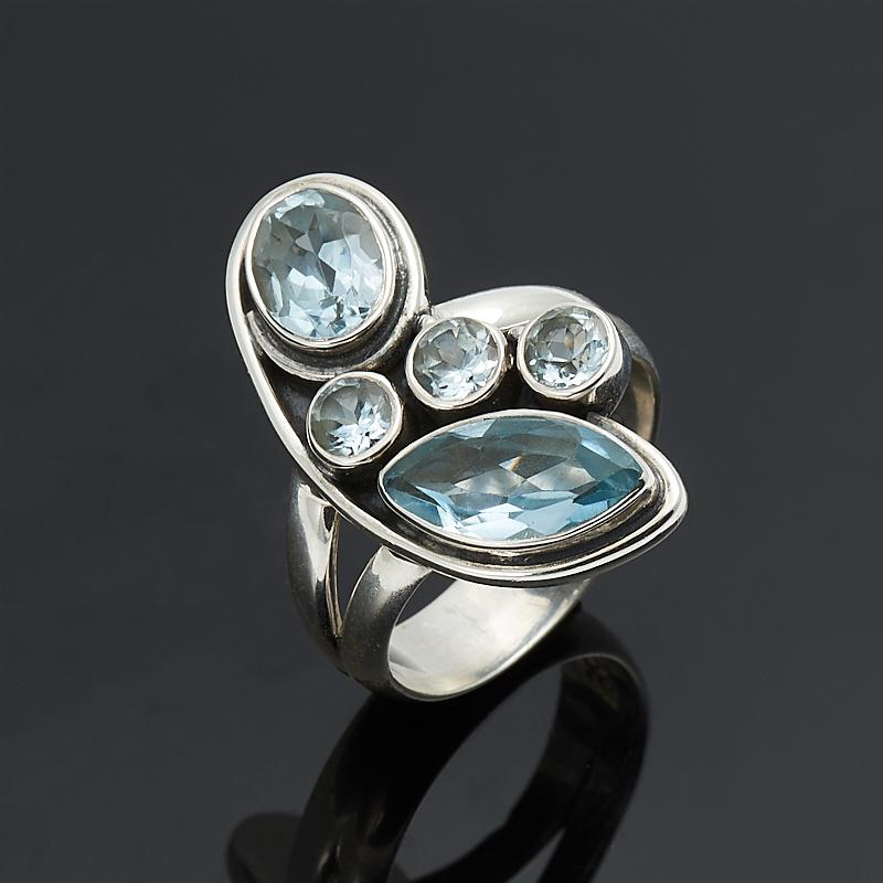 Кольцо топаз голубой огранка (серебро 925 пр.) размер 19 кольцо коюз топаз кольцо т703016392