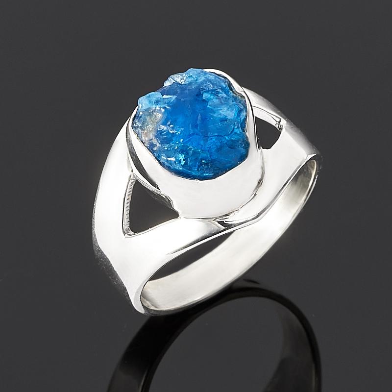 Кольцо апатит синий Бразилия (серебро 925 пр.) размер 19