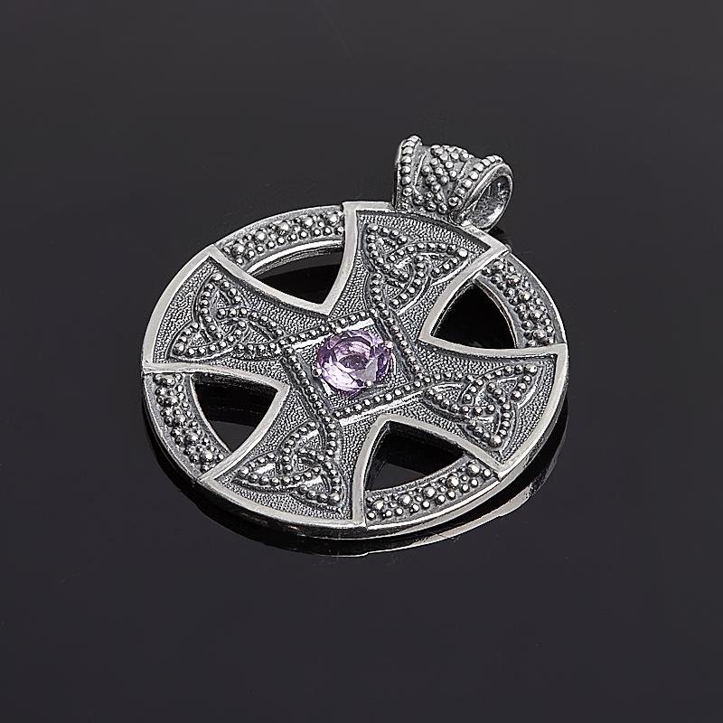 Фото - Кулон аметист круг огранка (серебро 925 пр.) огранка аметист круг 5 мм