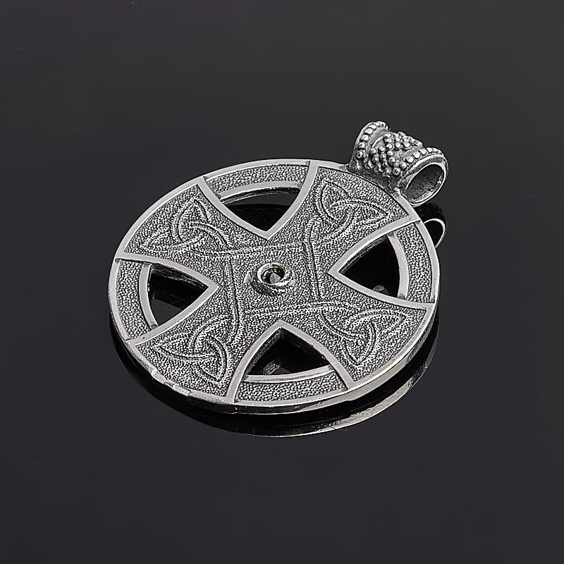 Кулон аметист Намибия круг огранка (серебро 925 пр. оксидир.)