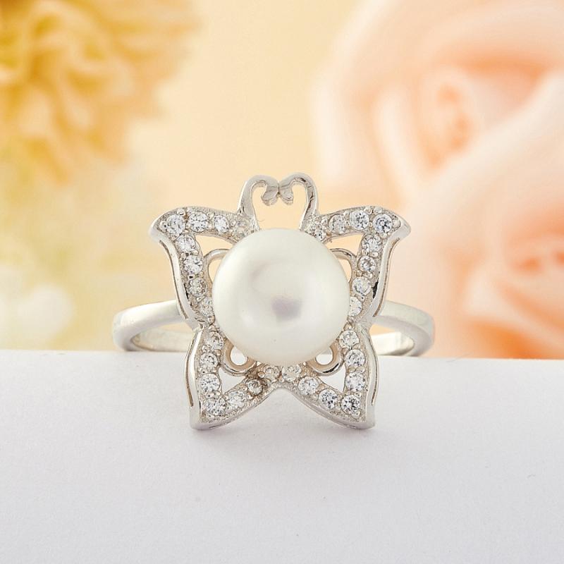[del] Кольцо жемчуг Малайзия (серебро) размер 16,5