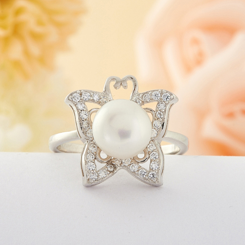 [del] Кольцо жемчуг Малайзия (серебро) размер 19,5