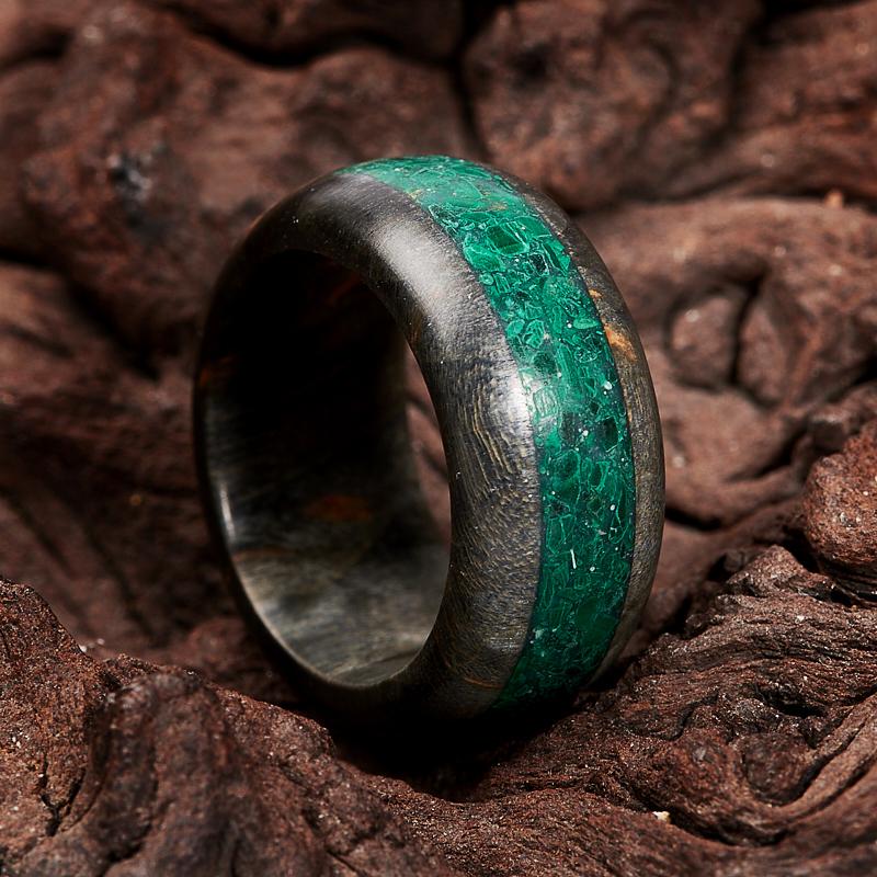 Кольцо малахит (дерево) размер 16,5 кольца колечки кольцо красотка им малахит