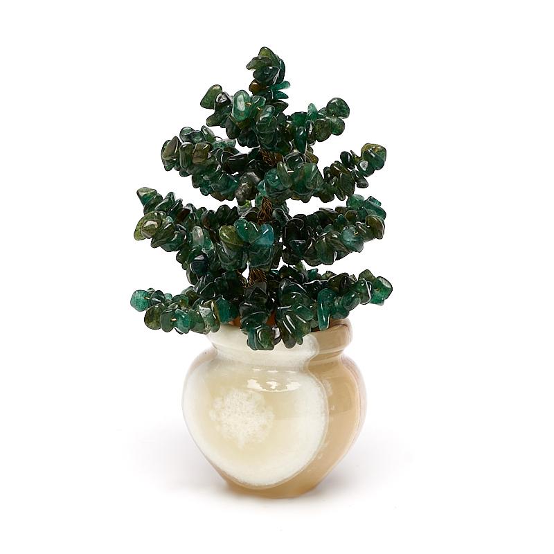 Елка авантюрин зеленый, оникс 9 см елка искусственная 3 метра цена