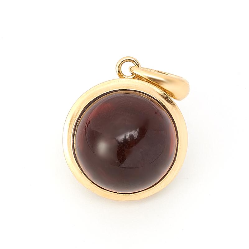 Кулон янтарь шар (серебро 925 пр., позолота)